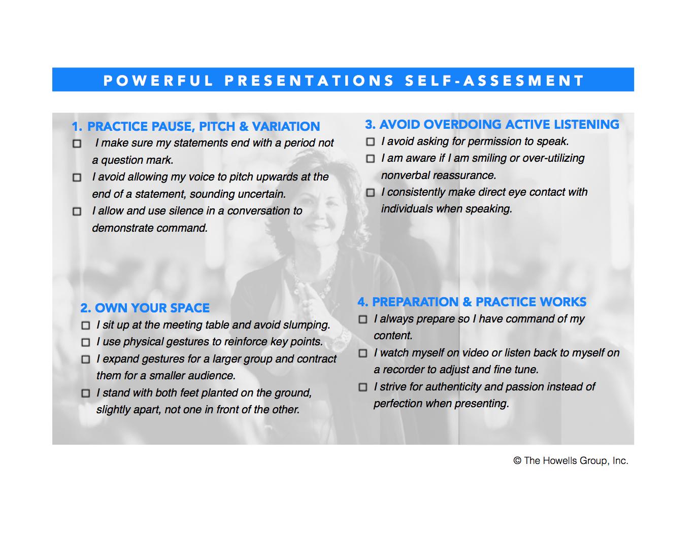 Powerful Presentations Self-Assessment