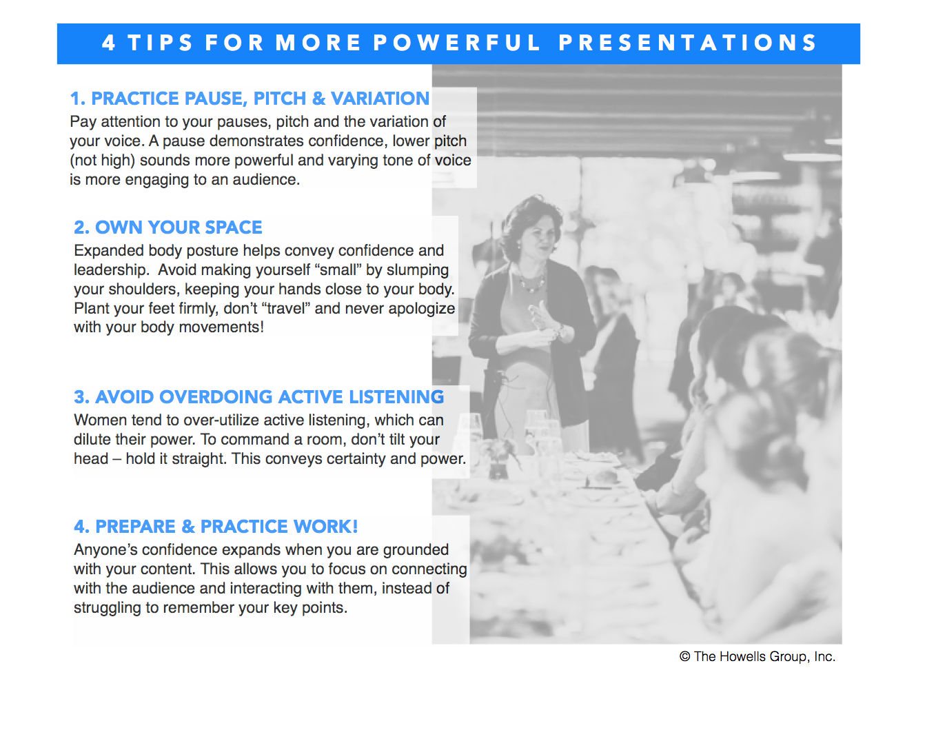 4 tips for powerful presentations